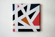 The Plumed Nest: Make: Graphic Canvas Painting (using tape!)