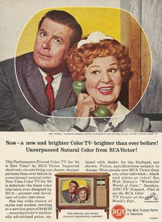 #ThrowbackThursday: @RCAbrand Color #Television #Advertisement Circa 1964. What's your favorite show from the 1960s? #tbt #throwbackthurs #TV #RCA