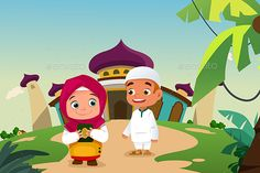 Muslim Kids Leaving a Mosque Prayer Position, Muslim Images, Islam Facts, Kid Character, Professional Business Cards, Mosque, Disney Characters, Fictional Characters, Doodles
