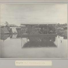 Tinzuigerinstallatie in aanbouw op tinonderneming te Soengeiliat, anonymous, c. 1900 - c. 1920 - Rijksmuseum