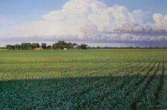 Stunning prairie painting by Grand Island artist Doug Johnson. #GINE