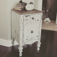 Farmhouse - Antique Nightstand (Milk Paint Redo) at home on SweetCreek