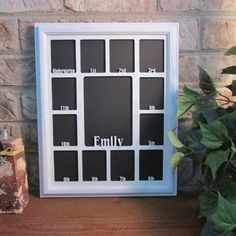 11x14 School Years with Name Graduation Gift Collage K-12 White Picture Frame White Matte