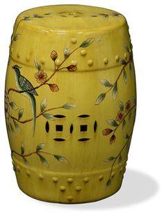 Vintage Style Famille Verte Porcelain Garden Stool Lucky Fish Motif | Stools  And Porcelain