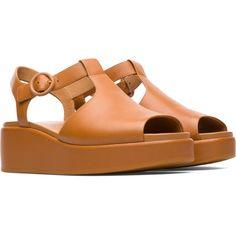3046ea89b911 Camper Misia Brown Formal Shoes Women K200568-003 Brown Formal Shoes