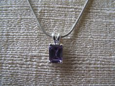 Lavender Stone Sterling Necklace by mimiyaya on Etsy, $22.00