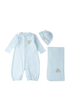 Take Me Home Convertible Gown, Hat, & Blanket 3-Piece Set (Baby Boys) by Elegant Baby on @nordstrom_rack