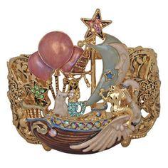 Kirks-Folly-Ship-Of-Dreams-Mermaid-Cuff-Bracelet-Goldtone-w-Free-Shipping