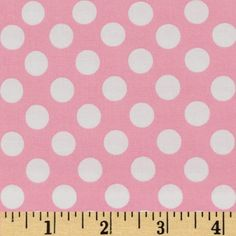 Michael Miller Ta Dot Candy from @fabricdotcom  Designed for Michael Miller Fabrics, this polka dot fabric has a color palette of white polka dots on a pink background.  The polka dot measures about 1/2''. Use for quilting and craft projects.