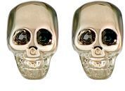 Givenchy Double-Sided Skull Earrings-Colorless