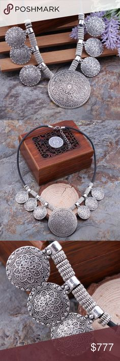 Coming Soon ⭐️ Vintage Statement Necklace Vintage silver-tone Tibetan necklace. It's adjustable with a claw clasp. $18 when they arrive Jewelry Necklaces