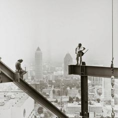 Old school Ironworkers... my dad came on during the tail end of the rivet gang era... he would tell stories about guys catching it in the face