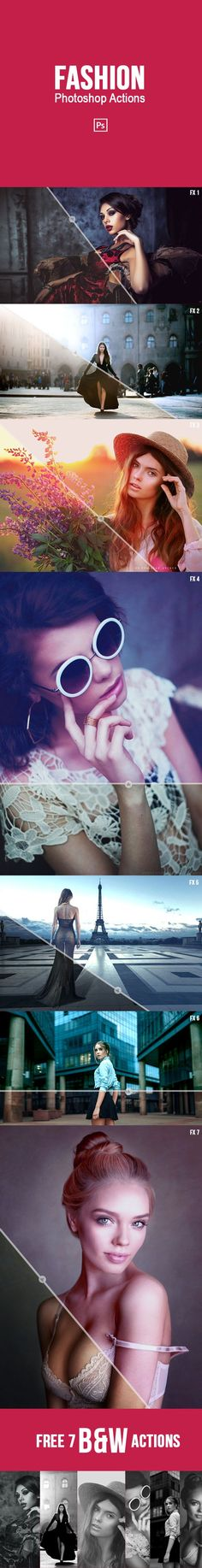 Fashion Photoshop Actions - Photo Effects Actions. Download here: http://graphicriver.net/item/fashion-photoshop-actions/16687860?s_rank=233&ref=yinkira
