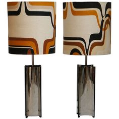 Pair Of XXL 1970s Table/Floor Lamps Signed Gaetano Sciolari