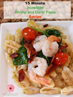 Serve an oh so delicious meal that you can make in just few minutes. Check out my super tasty but so easy to make Parmesan Garlic Shrimp Pasta Recipe.