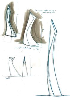 Folding Architecture, Architecture Concept Drawings, Futuristic Architecture, Column Design, Tower Design, Modern Sculpture, Abstract Sculpture, Industrial Design Sketch, Sketches