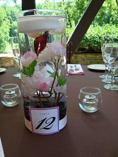 centerpiece flowers beta fish in cylinder beta fish wedding centerpeices | Beta+fish+wedding+centerpieces