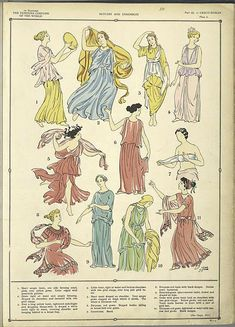 The fine draperies of the Greco-Roman costumes./ Paul Louis de Giaffie... ([1926-1927])