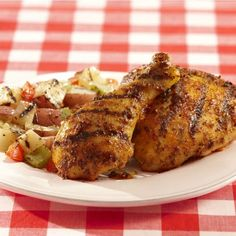 A summer cookout staple -- grilled chicken gets a tangy-sweet taste with brown sugar, bourbon and dijon flavor.