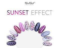 NeoNail stylizacje z Sunset Effect - pudrem w kolorach zachodzącego słońca