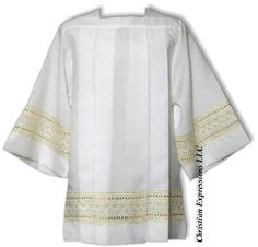 Tailored Priest Surplice with Gold Banding