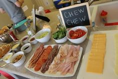 Host a Grilled Cheese Bar when you have a lot of guests to feed! Lots of great Recipe ideas!