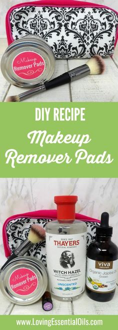 Here is an easy recipe for DIY makeup remover pads. It is an all natural beauty option that you will enjoy using on your skin. Get our FREE DIY Recipes Guide, visit now! #beautyrecipes #essentialoils #skincare