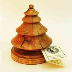 This Rustic Christmas tree is made of Spalted Maple and is 5-1/2″ tall. These handmade Christmas ornaments are sure to be treasured family  heirlooms. They are turned on a lathe from local …