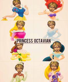 Favorite Disney Princess?  Octavian from Heroes of Olympus.