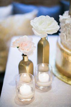 elegant parisian styled wedding centerpiece