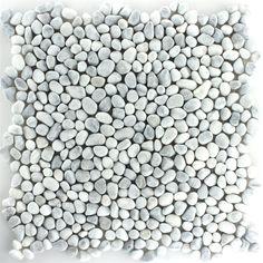 Pebblestone Mini Mosaic Tiles White Grey - 1 Package