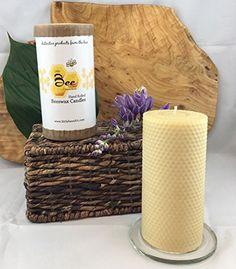 "6"" Hand Rolled Beeswax Pillar Candle - Little Bee of Connecticut, Martha Stewart American Made Maker"