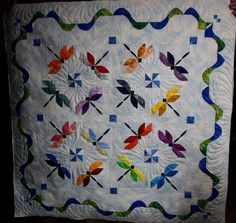 dragonfly quilt.. This is beautiful... I want this soooo much.