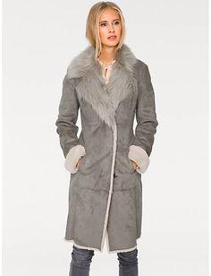 Acheter B.C. Best Connections - Manteau aspect peau gris dans la boutique en ligne Heine