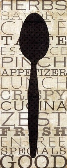 Kitchen Words II by Pela Design art print