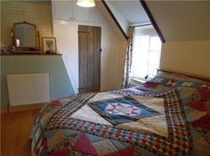 Loft room + quilted blanket! A real Anne of Green Gables room!