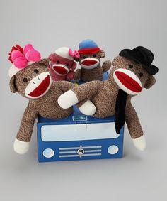 Sock Monkey Family Car Set by BryBelly #zulily #zulilyfinds