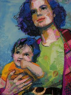 Moeder by Colette Berends - textile art