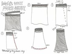 Worlds Easiest Maxi Skirt Tutorial by Bunny Baubles Blog 9