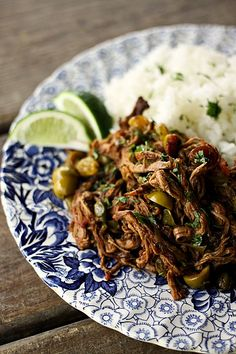 I need this in my mouth - Slow-Cooker Ropa Vieja a.k.a. Cuban Saucy Shredded Beef from foodiewithfamily.com