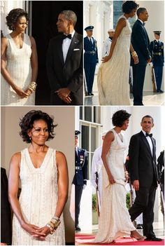 #44th #President #POTUS Of The United States Of America #CommanderInChief #BarackObama #FirstLady #FLOTUS Of The United States Of America #MichelleObama On one of the first hot, summer-weather evenings of the season in Washington, Michelle Obama turned up the glamour with her dress choice for Tuesday night's June 7, 2011 state dinner at the White House in honor of German Chancellor Angela Merkel.