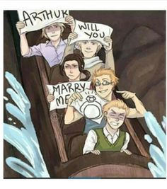 XD I don't know if I should be more worried for the response to Alfred's proposal or that arthur got to live threw that ride...