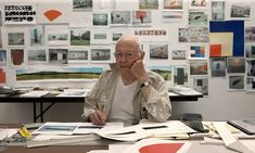 Ellsworth Kelly, photogprahed in his studio in Spencertown, New York