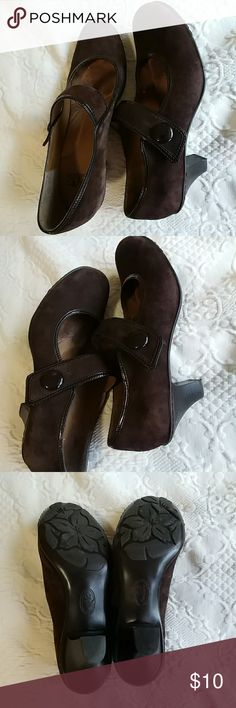 Brown suede shoes Two inch heels comfortable shoes I love comfort Shoes Heels