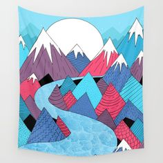 Check out society6curated.com for more! @society6 #illustration #wall #apartment #decor #homedecor #buy #shop #sale #design #shopping #apartmentgoals #sophomoreyear #sophomore #year #college #student #home #house #gift #idea #art #interiordesign #line #drawing #mountains #blue #red #white #nature