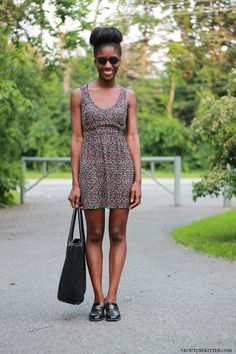 Urban Outfitters Dress | Vintage Chanel shoes | H Bag