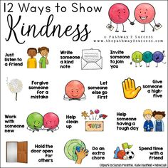 Teach kindness with a free printable learning activity for kids and young adults. As teachers and parents, we know that teaching about being kind can create a more positive learning environment for everyone! Complete a kindness challenge with a fun lesson Kindness For Kids, Teaching Kindness, World Kindness Day, Kindness Activities, Kids Learning Activities, Preschool Activities, Emotions Activities, Kindness Ideas, Social Skills Activities