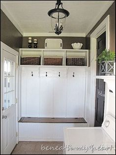 foyer...  I have to do this!  I have the perfect spot... I even described this to our contractor