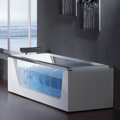 Ariel Free Standing Whirlpool Bathtub #Bath, #Ceramic, #Luxurious, #Relax, #Tub, #Unique