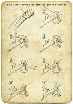 Como trocar cordas...                                                       …                                                                                                                                                                                 More #guitarlessonsonline